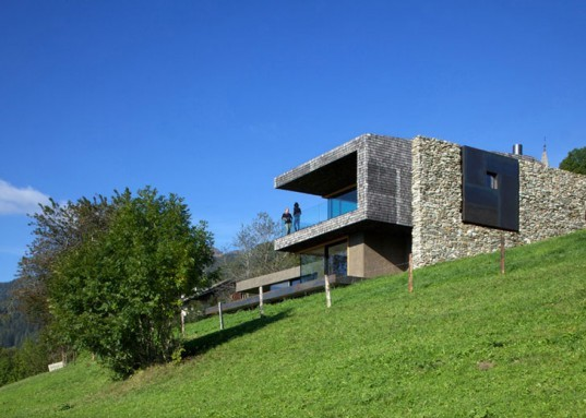 Bergmeister Wolf Architects, farm homes, italian homes, adaptive reuse, historic preservation architecture, stone architecture, green roof, charred wood construction