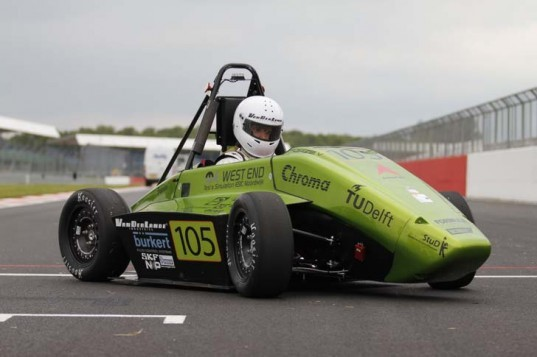 fuel cell, hydrogen powered car, green car, electric car, hydrogen powered racecar, green racecar, green transportation, hydrogen, Silversone, Delft University of Technology