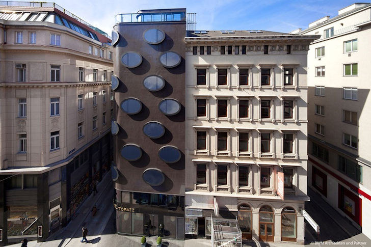 Bold Elliptical Windows Bubble With Daylight At The Topazz Hotel In Vienna