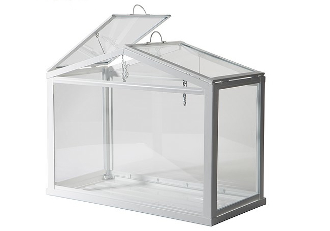 Ikea 39 s miniature greenhouse lets anyone create their own for How to make a small indoor greenhouse