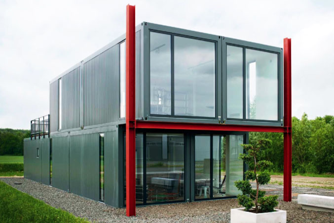 Koma Modular's Live-Work Store in Lneburg, Germany is Made from Recycled Shipping  Containers | Inhabitat - Green Design, Innovation, Architecture, ...