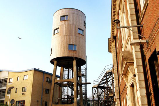 Tom Dixon's Converted Water Tower in London is a Modernist Home in the Sky—and it's Up for Rent!