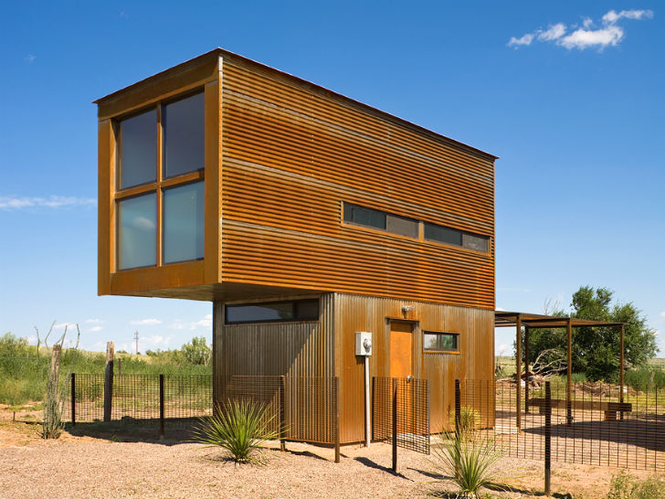 The marfa 10 x 10 tiny house for Japanese minimalist small house design