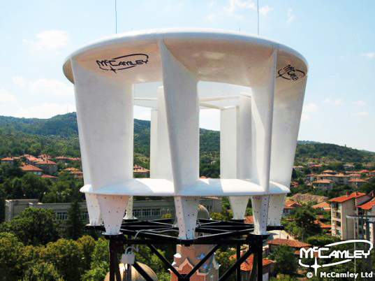 Mccamley S New Vertical Axis Wind Turbines Could Make