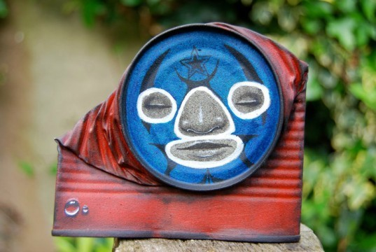green design, eco design, sustainable design, My Dog Sighs, Recycled cans, street art, FreeArtFriday, eco-art, found art