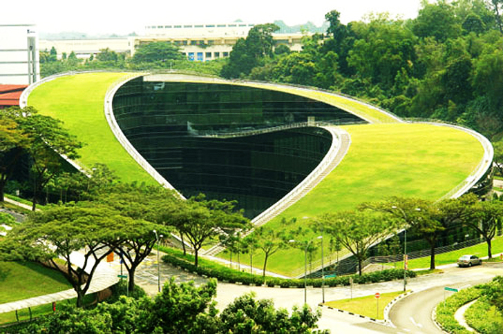 A Swirling Green Roof Tops The Gorgeous Nanyang Technical
