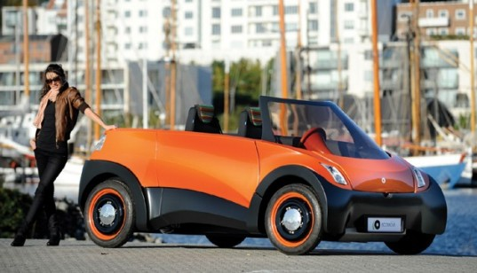 QBEAK, ECoMOve, electric car, ev, insero e-mobility, serenergy, 500 mile range car