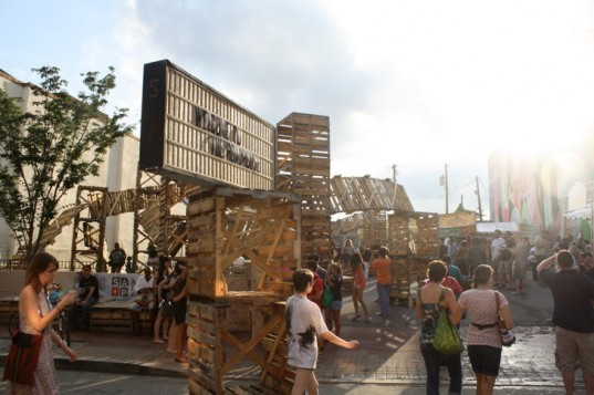 green design, eco design, sustainable design, Roadhouse, Morgan State University, adaptive reuse, recycled materials, upcycled shipping pallets, Michael Zebrowski, disused pallets, ARtscape, Baltimore