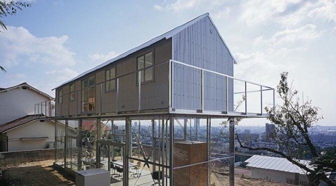 Tato architects hilltop house in rokko japan provides both dramatic views and privacy inhabitat green design innovation architecture green building