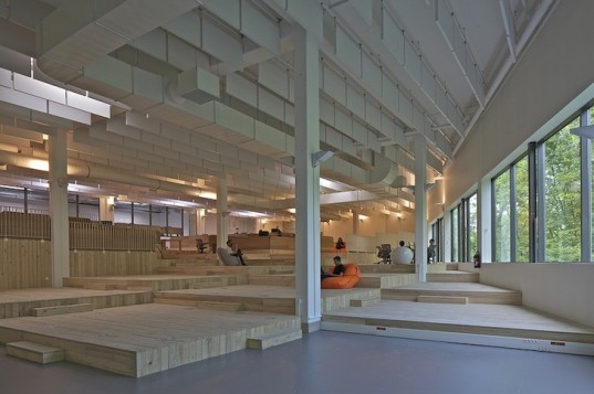 Dijon, France, Teletech, MVRDV, adaptive reuse, green renovation, daylighting, skylights, green design, sustainable design, eco-design, call center