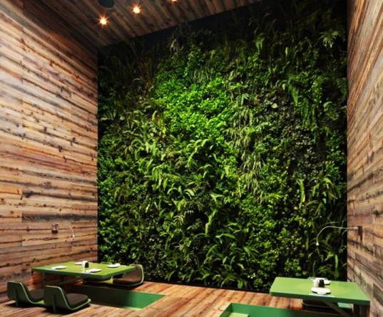 tori tori restaurant, Rojkind Arquitectos, green wall, living wall, sustainable design, green design, restaurant, mexico city, vertical garden, skylight, daylighting