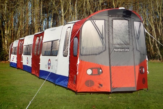 tent, portable shelter, temporary shelter, London Underground, Northern Line tent