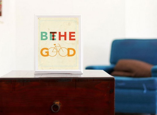 Be the good print, prints, bike prints, designed good products