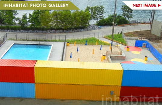 Photos Brooklyn 39 S New Shipping Container Pop Up Pool And Beach Overlooks Downtown Manhattan