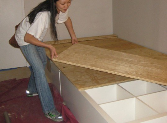 DIY: How to Make Your Own Storage Bed Using a Repurposed ...