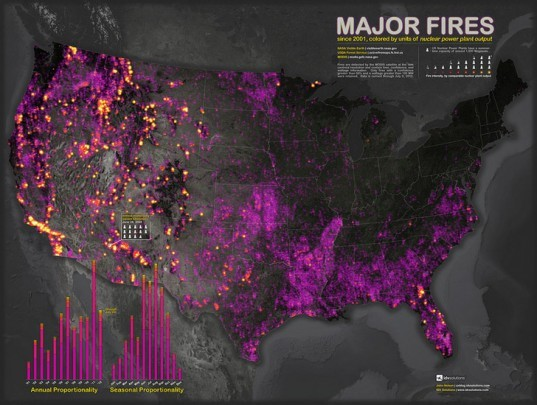 john nelson, idv solutions, US wildfires, data visualization, nasa imagery, wildfire maps
