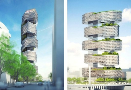Neutelings Riedijk Architects, Le Cinq, France, Paris, green roof, geothermal, clean energy, green design, sustainable design, eco-design, solar-energy, mixed-used development