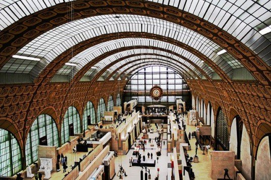 "musee dorsay, museum dorsay, recycled train station, adaptive reuse, green renovation, sustainable design, green design, upcycled train station, green architecture, sustainable architecture, retrofitted building, renovated train station"" title=""Musee D'Orsay Renovated Train Station"
