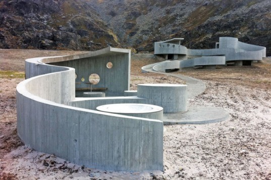 green design, eco design, sustainable design, Norway, Havoysund Tourist Route, Reiulf Ramstad Architects, Arctic ocean, open air concrete pathway