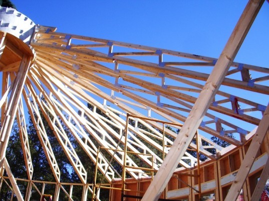 hurricane ties, roof trusses for round roof, engineered scissor trusses, simpson ties