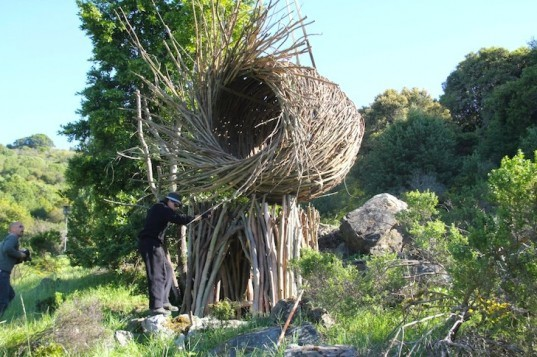 Jayson Fann Builds Giant Spirit Nests For Humans From