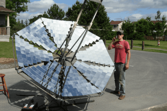 Lorin Symington, solar array, solar power, solar cooker, solar energy