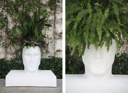 Teresa Sapey\'s Recyclable, Head-Shaped Planters Have Green on Their ...