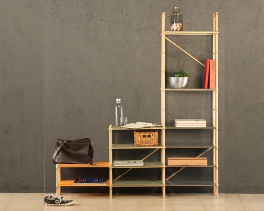 modular shelving, modular shelf, andamio shelf, green furniture, eco furniture, green interiors
