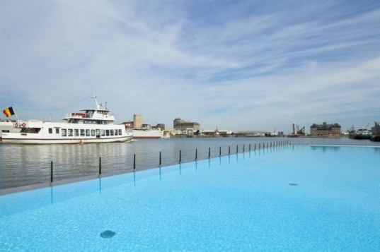 Badboot Opens, badboot, world's largest floating swimming pool, antwerp, swimming pool, Sculp(IT)