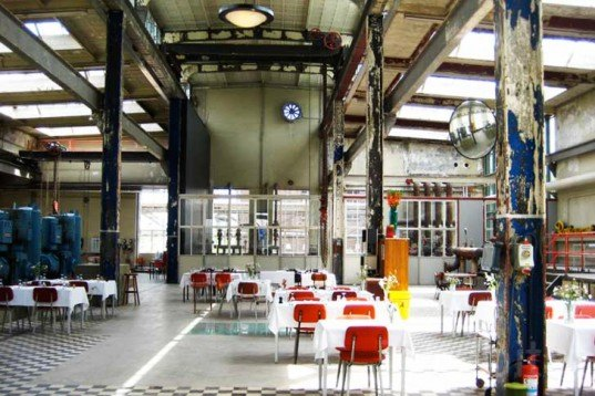 Radio Royaal, Eindhoven, recycled warehouse, Philips, seasonal food, recycled furniture, Architecture, Daylighting, green furniture, green Interiors, Green renovation,