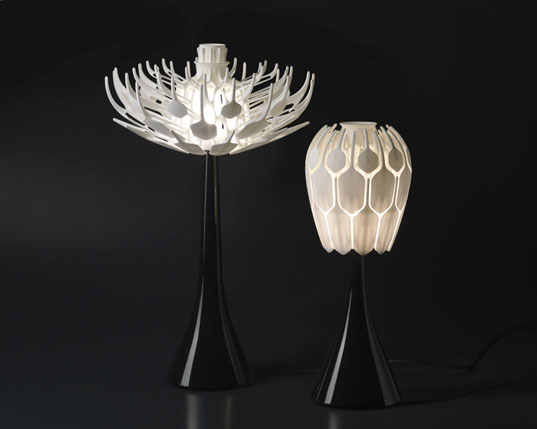 Elegant Patrick Jouinu0027s 3D Printed Bloom Table Lamp Opens Like A Flower | Inhabitat    Green Design, Innovation, Architecture, Green Building