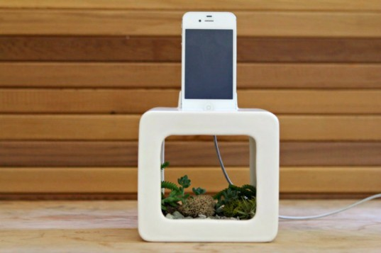 Bloombox, iPhone Station, acoustic amplifier, speakers, amplifier, planter, gardening, green product