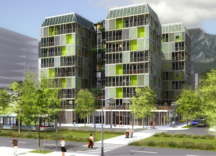 canopea is a solar powered urban home with a vertical farm by french student team rh ne alpes. Black Bedroom Furniture Sets. Home Design Ideas