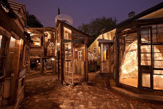 Dithyrambalina, The Music Box, Swoon, New Orleans Airlift, salvaged wood, reclaimed windows, locally sourced, New Orleans, Louisiana, shanty town, instruments, musical town