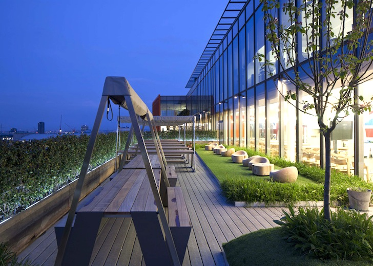 google hq office extravagant architecture employees grow herbs and veggies at googles new superheadquarters