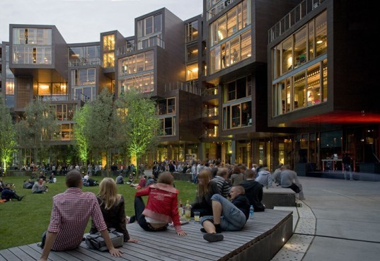 green design, eco design, sustainable design, green building, eco building, sustainable building, copenhagen, orestad, lundgaard and tranberg, tietgenkollegiet, tietgan hall, circular building, circular architecture, danish architecture, danish building, danish green building, college buildings, dorms, green dorms, gallery
