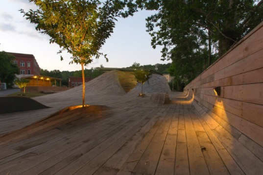 Masonic Amphitheater, DesignBuild/LAB, virginia tech, student architecture project, open air theatre, prefab theater