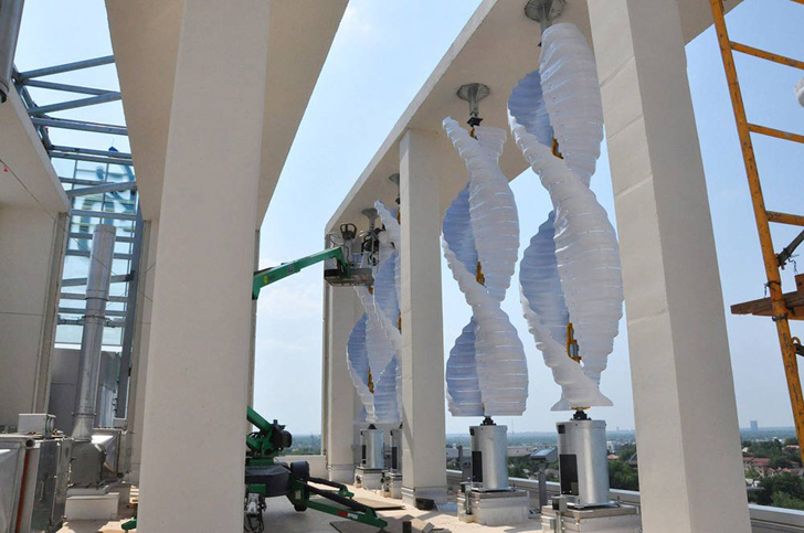 Venger Wind Unveils World S Largest Rooftop Wind Farm In