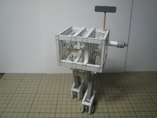 This Mechanical Robot Is Made Completely From Paper And A