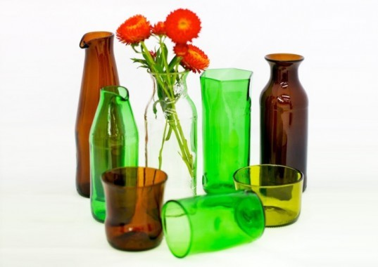 Ruth Allen, sustainable stubbies, mixed pack, recycled glass bottles, upcycling, glass cutting, glass sculptor, In the Spirit