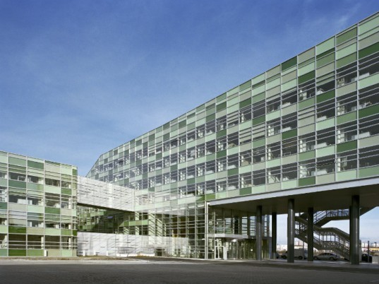 skc bratislava, strabag, slovakia, geothermal, erwin wurm, mhm architecture, eco office building