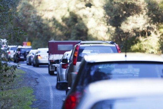 traffic jam, cost of gas, high gas emissions