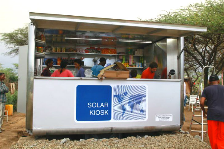 World S First Solar Kiosk Now Open For Business In Ethiopia