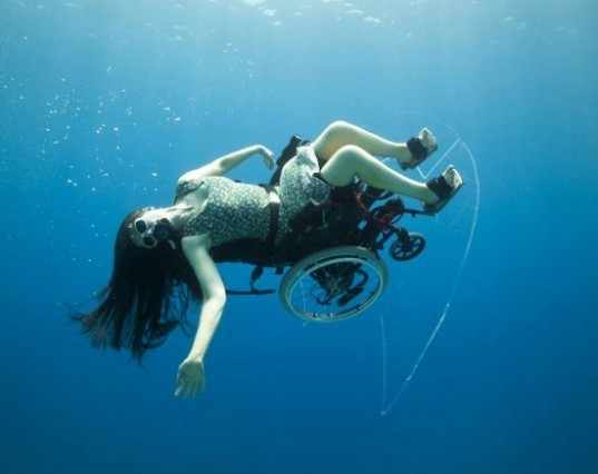 sue austin, paraolympics, self-propelled underwater wheelchair, underwater wheelchair, artist, diving, aqua wheelchair, creating the spectacle, PADI