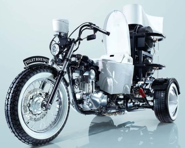 TOTO, TOTO Toilet Bike NEO, TOTO toilets Japan, toilets, green transportation, green motorcycle, poop power, motorcycle