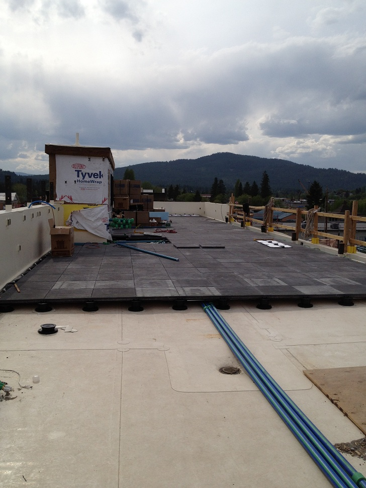 invisible temperature converting panels fit under pavers