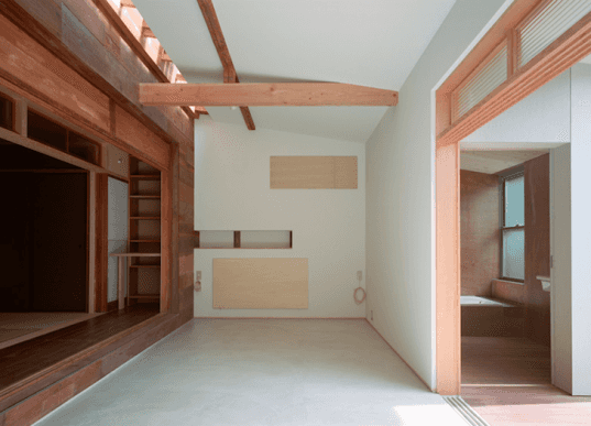 Q Architecture, Kyo-Machiya, Japan, Kyoto, green design, sustainable design, eco-design, green renovation, recycled materials, historical record