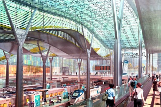 Union Station Renovation, HOK, Parsons Brinkerhoff, Washington D.C., Amtrak, high speed rail station, train station renovation