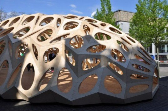 Bowooss pop up bionic research pavilion inspired by nature 39 s efficiency inhabitat green - Adobe house plans nature inspired efficiency ...