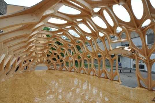 Bowooss, Bionic Research Pavilion, Germany, architecture, green building, biomimicry, nature